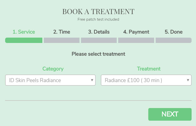 Skin Clinic Web Design With Booking System