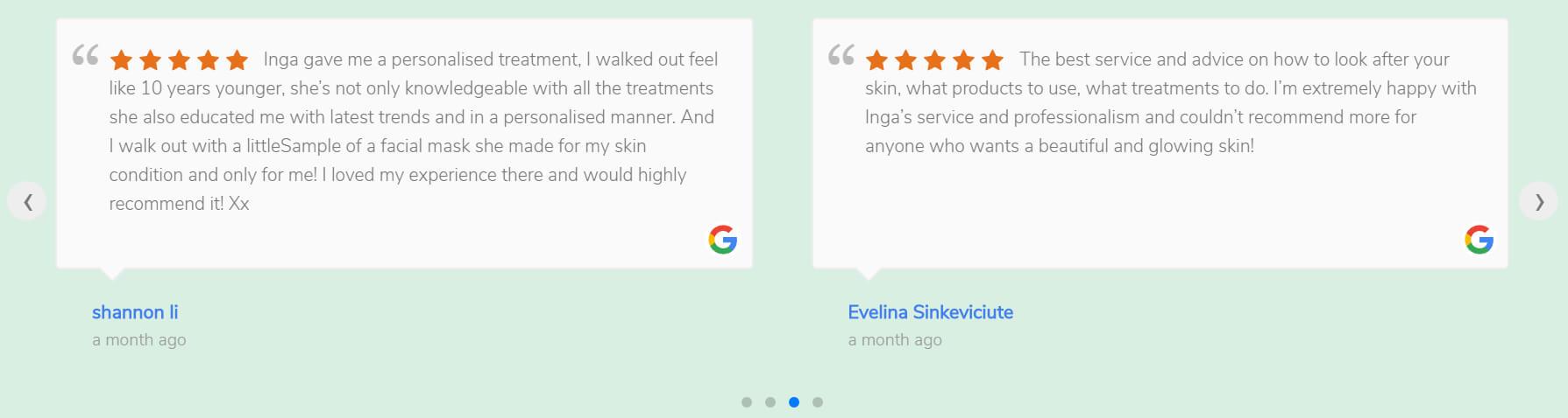 Skin Clinic Website Designer With Google Reviews System